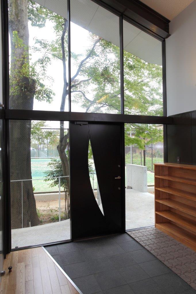 写真:ヴィアトール学園洛星中・高等学校弓道場(内観)